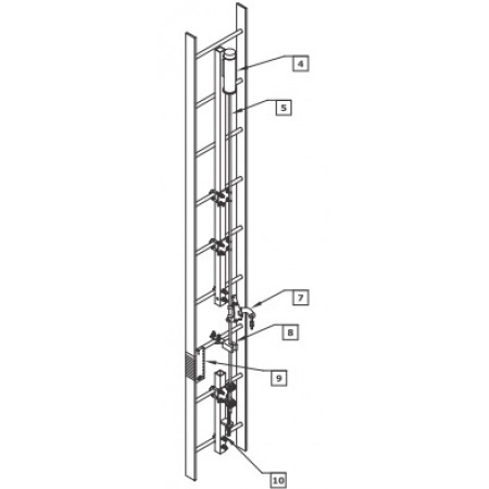 Db Ladsaf 30 30 Ft 9 1 M Fixed Ladder Safety System