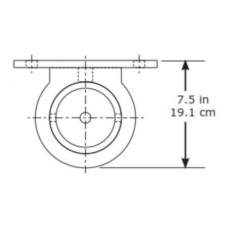 Db7400225securaspan Bolt On Vertical Base For Stanchion Post