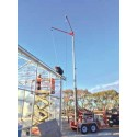 #TB.70726: ExoSphere Portable Fall Arrest Dual Anchor Highway Trailer 42 Foot Adjustable Height